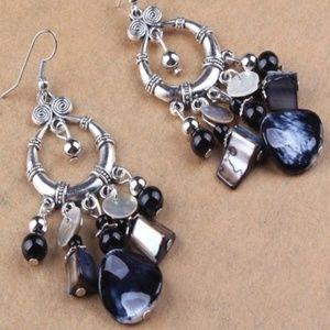 Jewelry - Blue Shell Earrings